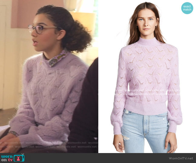 Audra Sweater by ASTR the Label worn by Mary-Anne Spier (Malia Baker) on The Baby-Sitters Club