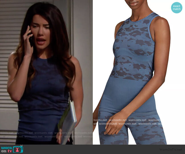 Essentials Seamless Tank by Stella McCartney worn by Steffy Forrester (Jacqueline MacInnes Wood) on The Bold & the Beautiful