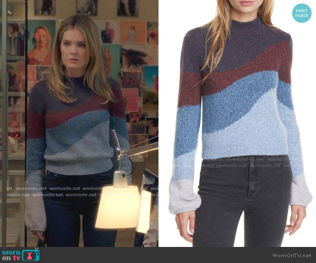 Alexey Sweater by Veronica Beard worn by Sutton (Meghann Fahy) on The Bold Type