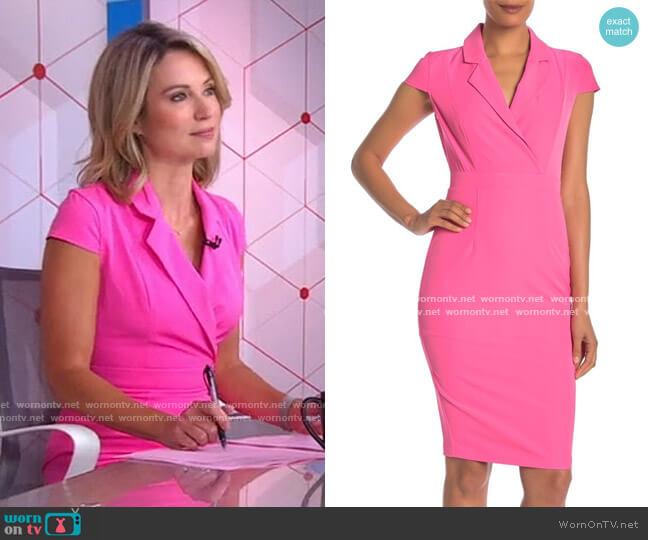 Cap Sleeve Midi Sheath Dress by Alexia Admor worn by Amy Robach  on Good Morning America