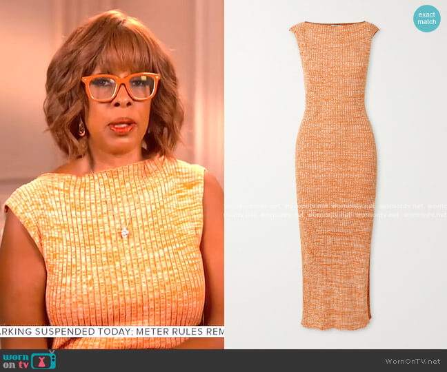 Drew Ribbed Dress by Anna Quan worn by Gayle King  on CBS Mornings