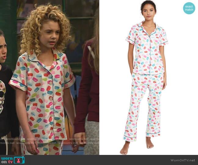 Les Macarons Short Sleeve PJ Set by BedHead Pajamas worn by Destiny Baker (Mallory James Mahoney) on Bunkd