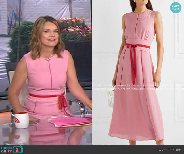 Belted Voile Midi Dress by Cefinn worn by Savannah Guthrie  on Today