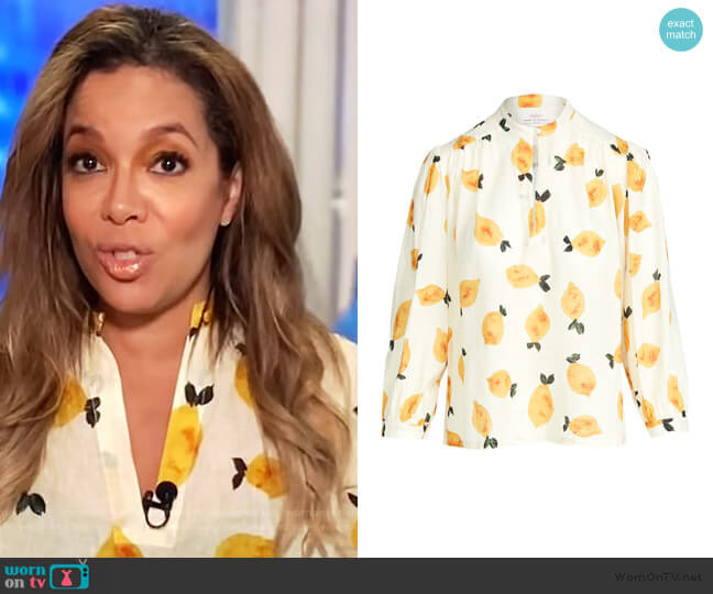 Bailey Blouse by Birds of Paradis worn by Sunny Hostin  on The View