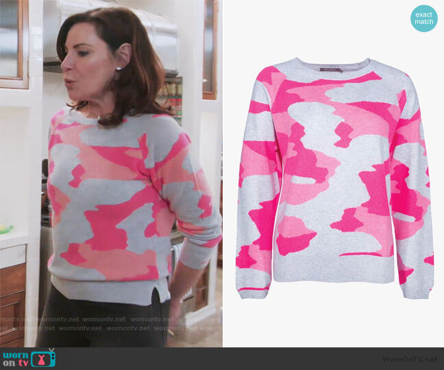 Camo Sweatshirt in Camo by Brodie worn by Luann de Lesseps  on The Real Housewives of New York City