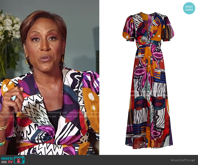 Cotton Voile Maxi Dress - Gabrielle Union Collection by New York & Company worn by Robin Roberts  on Good Morning America