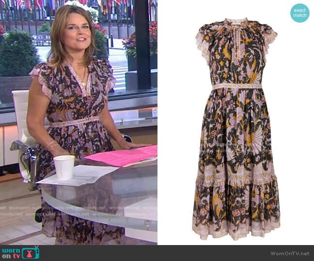 Celestia Dress by Ulla Johnson worn by Savannah Guthrie  on Today