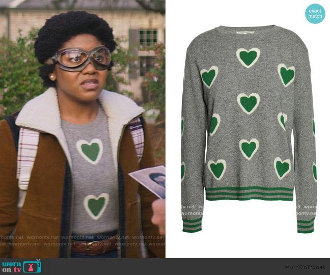 Intarsia Wool and Cashmere Sweater by Chinti & Parker worn by Beth Chapel (Anjelika Washington) on Stargirl