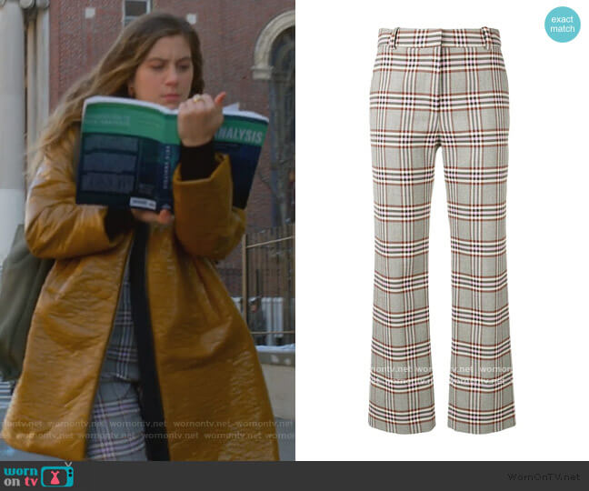 Plaid Trousers by Derek Lam 10 Crosby worn by McAfee (Laura Dreyfuss) on The Politician