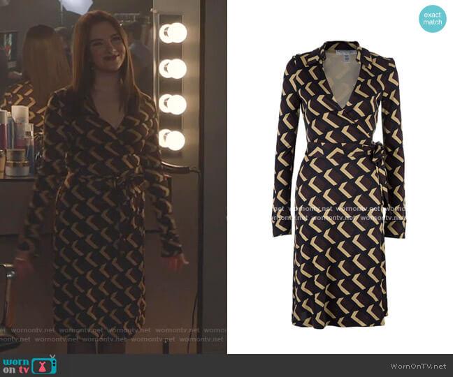 Print Wrap Dress by Diane von Furstenberg worn by Jane Sloan (Katie Stevens) on The Bold Type
