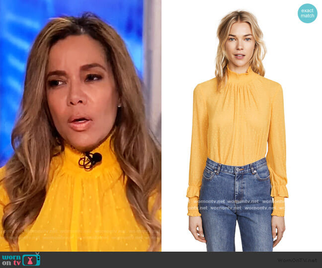 Swiss Dot Blouse by English Factory worn by Sunny Hostin  on The View