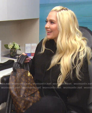 Erika's black cropped hoodie on The Real Housewives of Beverly Hills