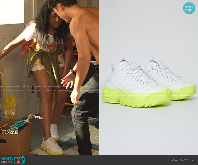Disruptor 2 Brights Fade Sneakers by Fila worn by Devi Vishwakumar (Maitreyi Ramakrishnan) on Never Have I Ever
