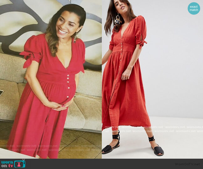 Love Of My Life Button Through Midi Dress by Free People worn by Jo (Christina Vidal Mitchell) on United We Fall