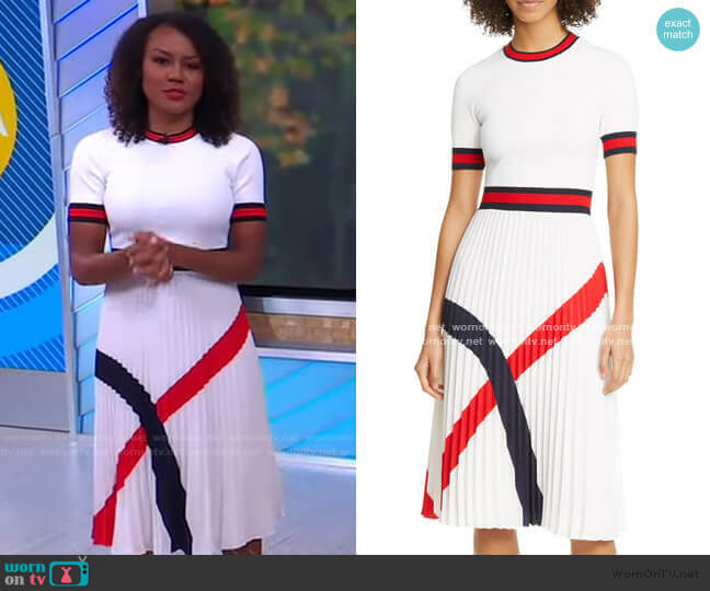 Fynlie Pleated Sweater Dress by Ted Baker worn by Janai Norman  on Good Morning America