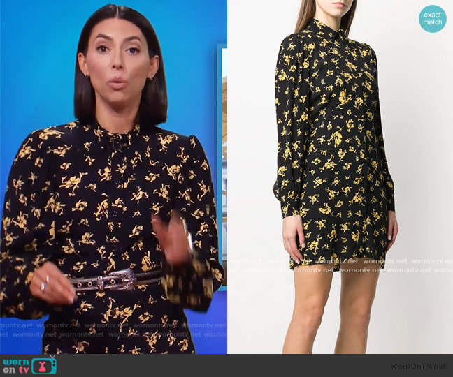 Floral Shirt Dress by Ganni worn by Jade Catta-Preta  on The Soup
