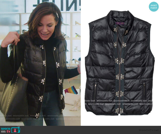 Glam Vest in Nylon by Glamourpuss NYC worn by Luann de Lesseps  on The Real Housewives of New York City
