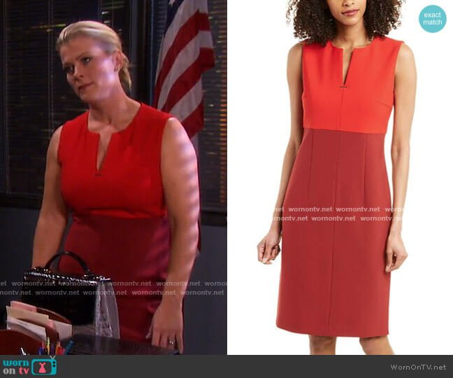 Sheath Dress by Boss worn by Sami Brady (Alison Sweeney) on Days of our Lives