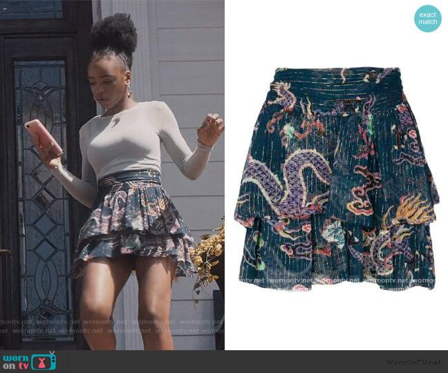Dahlia Skirt by Isabel Marant worn by Zora Greenleaf (Lovie Simone) on Greenleaf