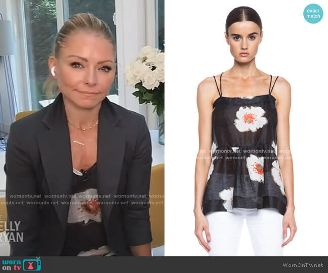 Ridge Linen-Blend Tank by Isabel Marant Etoile worn by Kelly Ripa  on Live with Kelly & Ryan
