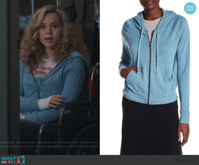 Classic Zip Up Hoodie by James Perse worn by Courtney Whitemore (Brec Bassinger) on Stargirl