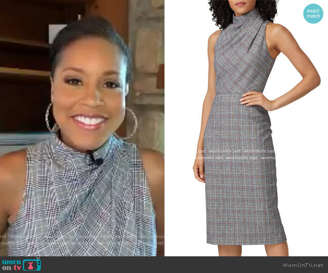 Newton Sheath Dress by Jay Godfrey worn by Sheinelle Jones  on Today