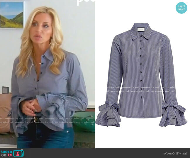 Karin Bell Sleeve Button Up by Alexis worn by Camille Grammer  on The Real Housewives of Beverly Hills