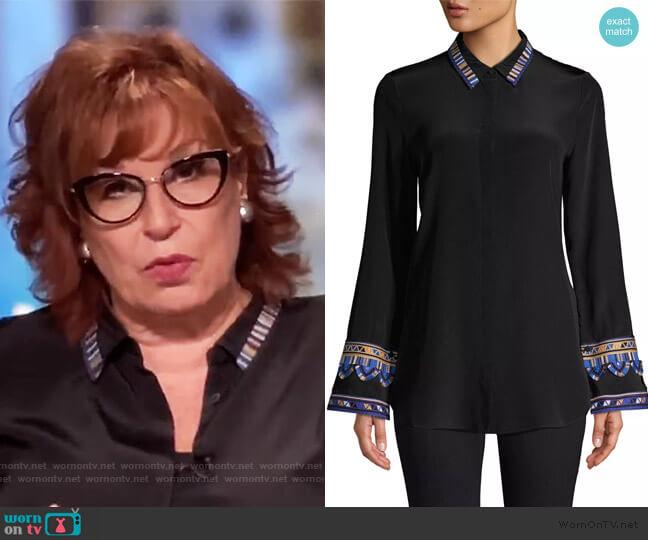 Monica Embroidered Sleeve Blouse by Kobi Halperin worn by Joy Behar  on The View
