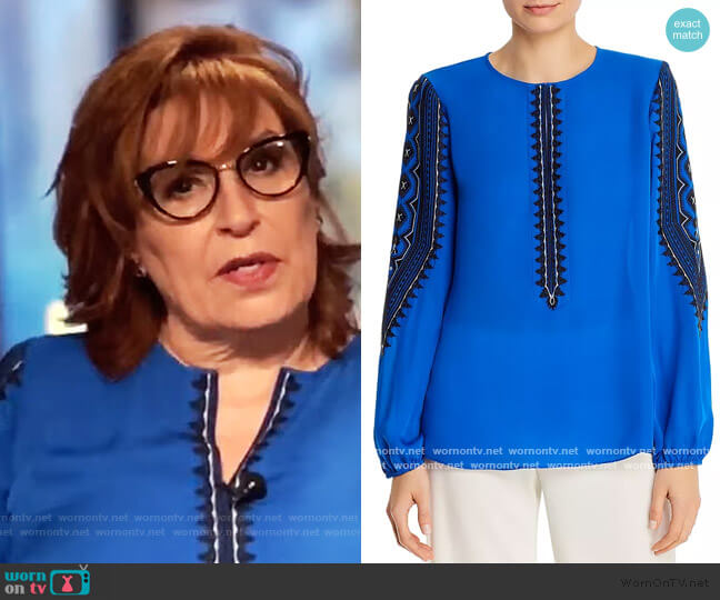 Zadie Silk Blouse by Kobi Halperin worn by Joy Behar  on The View