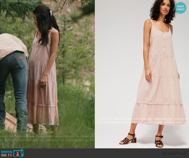 Goldie Dress by Lacausa worn by Monica Dutton (Kelsey Asbille) on Yellowstone