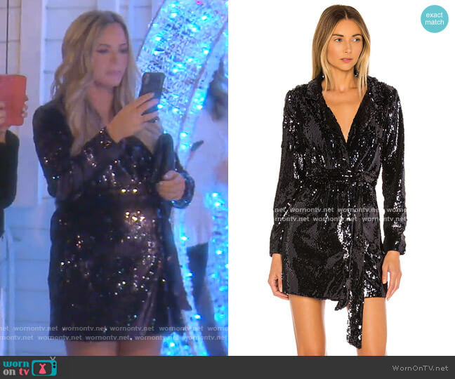 The Leondrea Mini Dress by L'Academie worn by Teddi Mellencamp Arroyave  on The Real Housewives of Beverly Hills