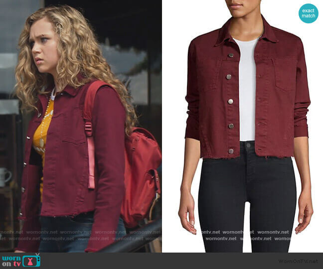 Janelle Slim Jacket by L'Agence worn by Courtney Whitemore (Brec Bassinger) on Stargirl