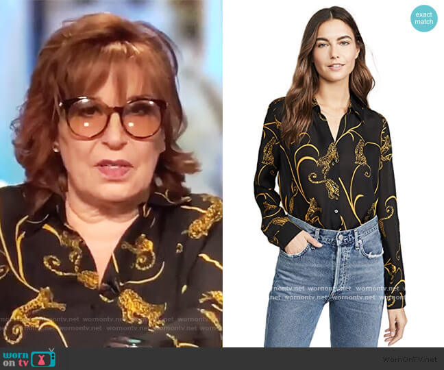 Nina Long Sleeve Blouse by L'Agence worn by Joy Behar  on The View