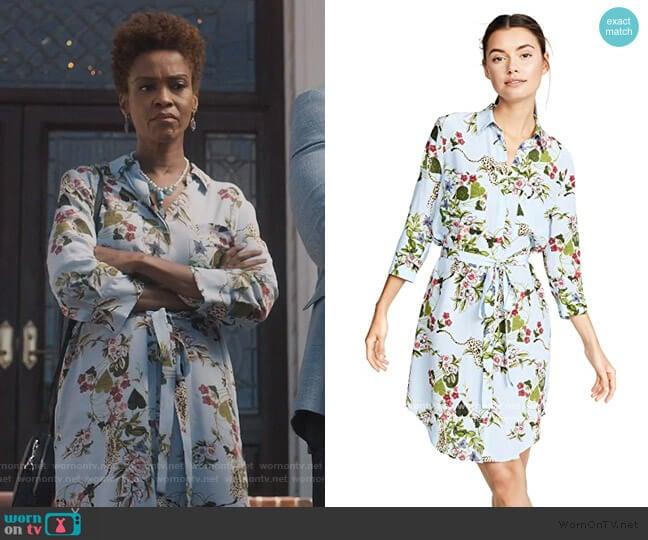 Stella Shirtdress by L'Agence worn by Kerissa Greenleaf (Kim Hawthorne) on Greenleaf