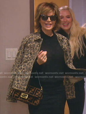 Lisa's leopard print utility jacket on The Real Housewives of Beverly Hills