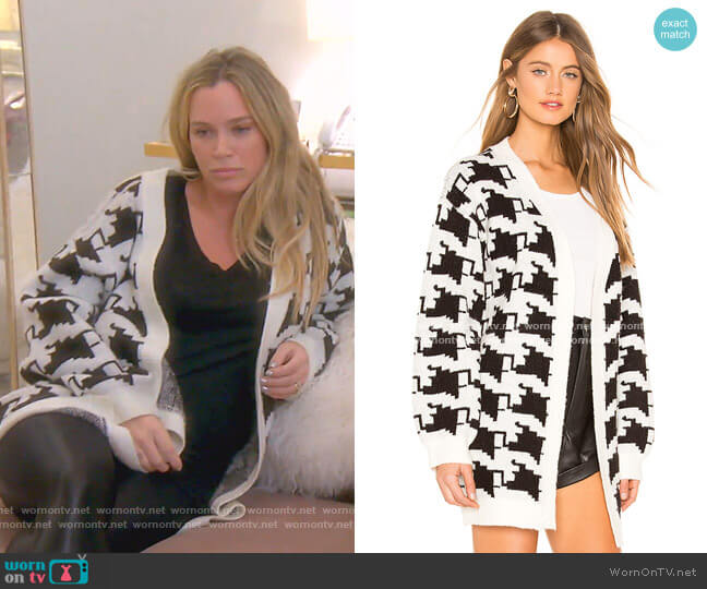 Basset Cardigan by Lovers + Friends worn by Teddi Mellencamp Arroyave  on The Real Housewives of Beverly Hills