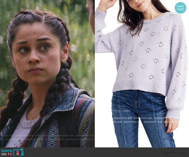 Floral Pointelle Pullover Sweater by Madewell worn by Yolanda Montez (Yvette Monreal) on Stargirl