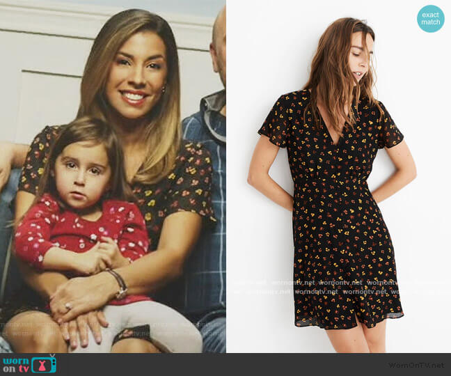 Silk Button Front Swing Dress in Feline by Madewell worn by Jo (Christina Vidal Mitchell) on United We Fall