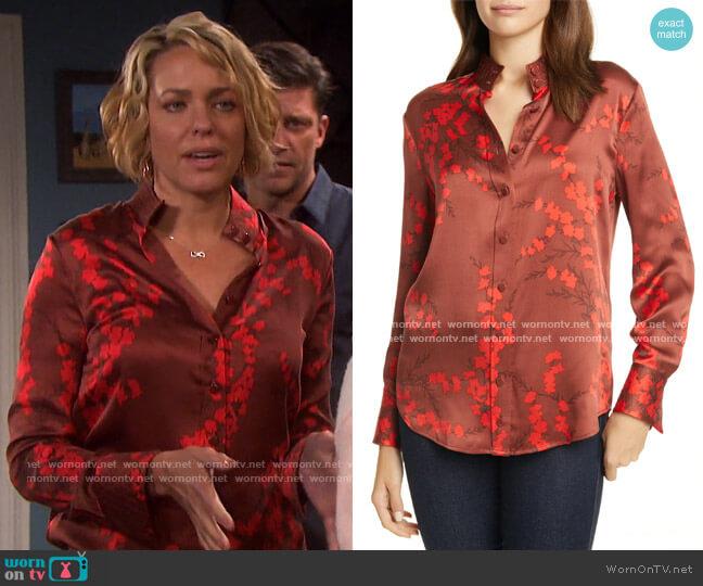 Maisa Silk Shirt by Equipment worn by Nicole Walker (Arianne Zucker) on Days of our Lives