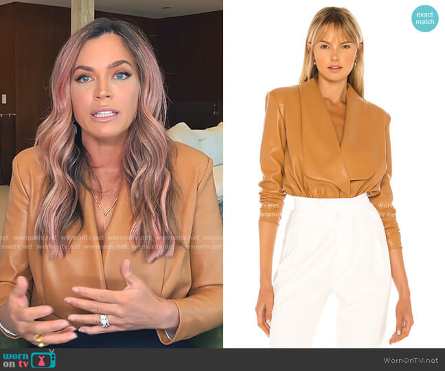 Caraline Bodysuit by NONchalant worn by Teddi Mellencamp Arroyave  on The Real Housewives of Beverly Hills