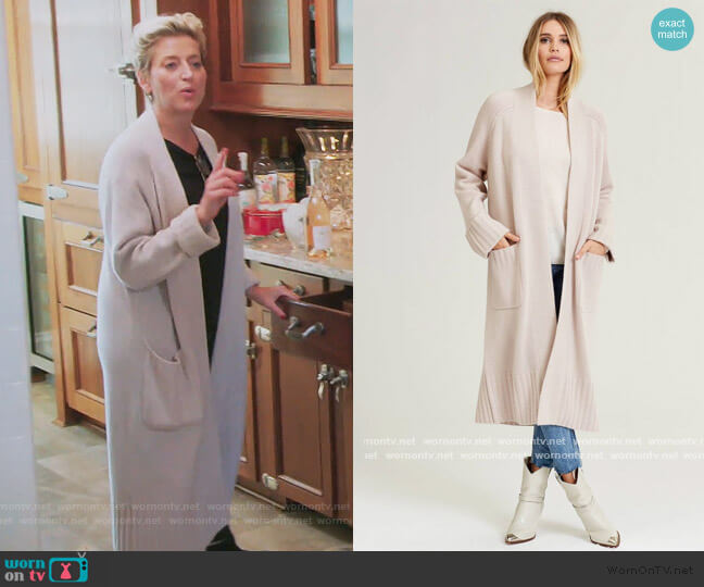 Tinley Cardigan by Naked Cashmere worn by Dorinda Medley  on The Real Housewives of New York City