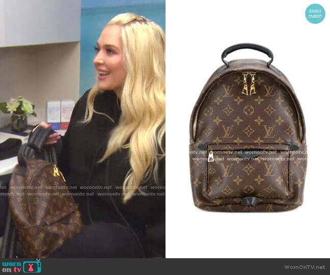 Palm Springs MM Backpack by Louis Vuitton worn by Erika Girardi  on The Real Housewives of Beverly Hills