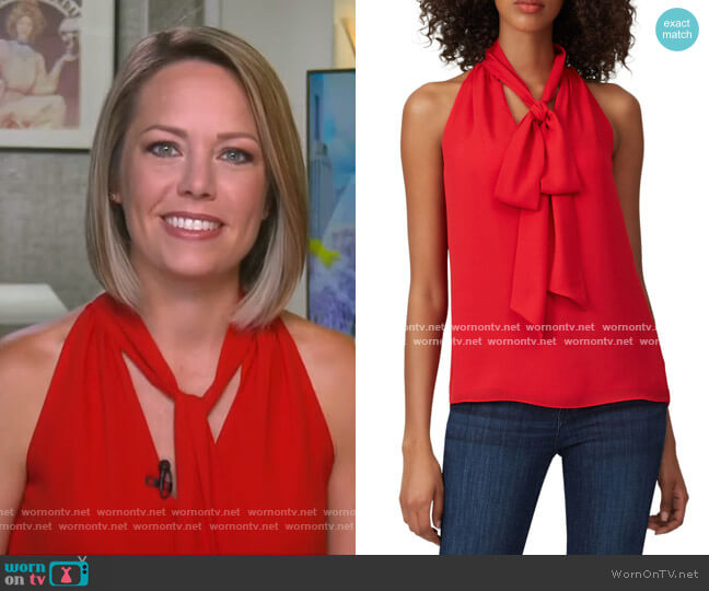 Tie Neck Blouse by Prabal Gurung Collective worn by Dylan Dreyer  on Today