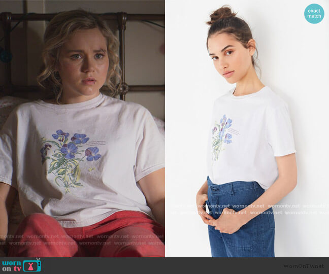 Blue Violet Crew Neck Tee by Project Social T worn by Courtney Whitemore (Brec Bassinger) on Stargirl