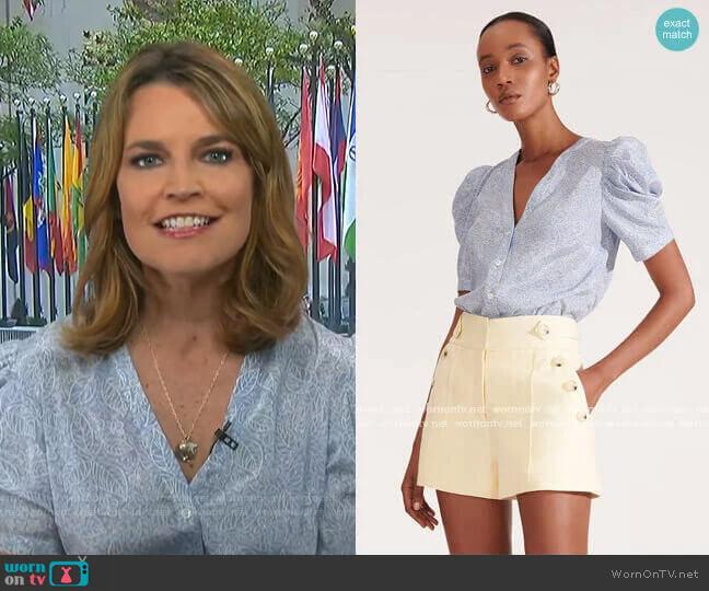 Puff Sleeve Top by Veronica Beard worn by Savannah Guthrie  on Today
