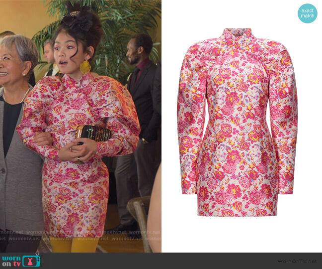 Short Dress by Rotate Birger Christensen worn by Claudia Kishi (Momona Tamada) on The Baby-Sitters Club