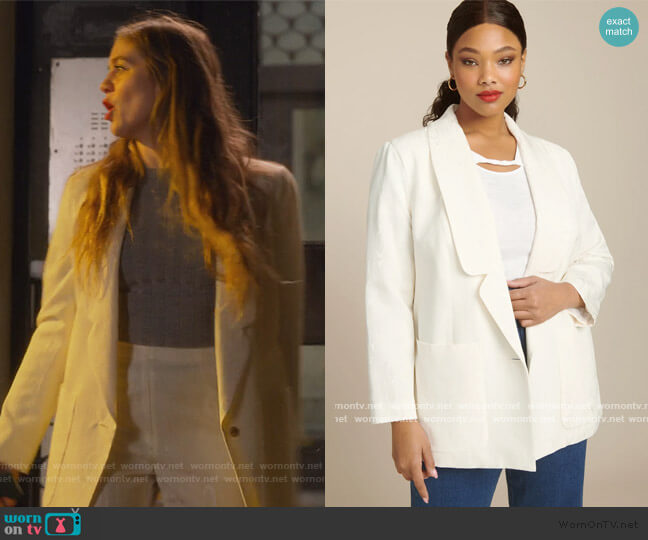 Lovely Blazer by Rachel Comey worn by McAfee (Laura Dreyfuss) on The Politician