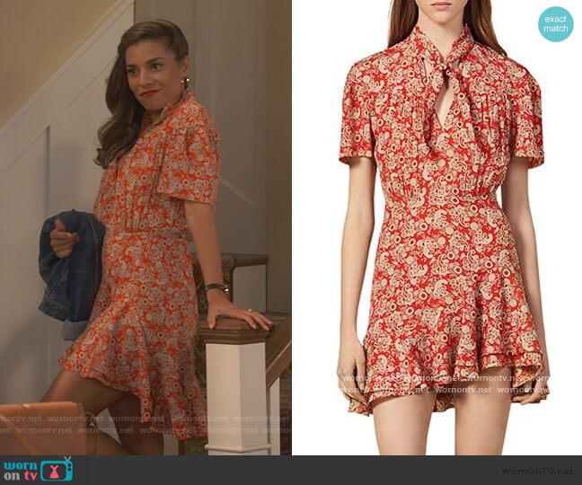Lane Paisley Mini Dress by Sandro worn by Jo (Christina Vidal Mitchell) on United We Fall