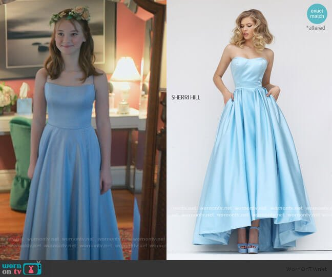 50226 Prom Dress by Sherri Hill worn by Kristy Thomas (Sophie Grace) on The Baby-Sitters Club