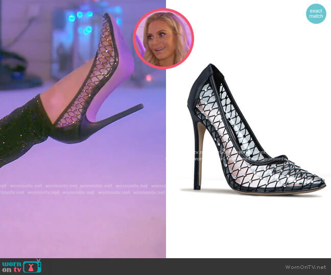 Snatched Embellished Pump by ShoeDazzle worn by Dorit Kemsley  on The Real Housewives of Beverly Hills
